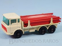 1. Brinquedos antigos - Matchbox - DAF Girder Truck black plastic Regular Wheels