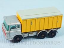 1. Brinquedos antigos - Matchbox - DAF Tipper Container Truck black plastic Regular Wheels