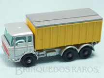 Brinquedos Antigos - Matchbox - DAF Tipper Container Truck black plastic Regular Wheels