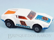 1. Brinquedos antigos - Matchbox - De Tomaso Pantera Superfast branco