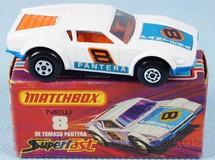 Brinquedos Antigos - Matchbox - De Tomaso Pantera Superfast branco