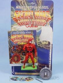 Brinquedos Antigos - Casablanca e Gulliver - Demolidor Secret Wars Completo com Escudo e Bastão acompanham Revista e Cartela Originais Ano 1986