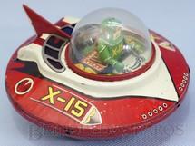 1. Brinquedos antigos - KO Yoshiya - Disco Voador X-15 com 15,00 cm de diâmetro Década de 1950