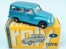 1. Brinquedos antigos - Roly Toys - DKW Vemag Vemaguete com 6,00 cm de comprimento Azul metálico Década de 1960