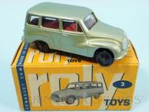 1. Brinquedos antigos - Roly Toys - DKW Vemag Vemaguete com 6,00 cm de comprimento verde metálico Década de 1960
