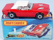 1. Brinquedos antigos - Matchbox - Dodge Challenger Superfast