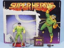 Brinquedos Antigos - Casablanca e Gulliver - Dr. Octopus Série Secret Wars perfeito estado Completo com Escudo e Arma acompanha Cartela Original Ano 1989