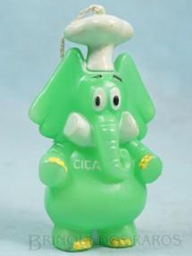 1. Brinquedos antigos - Trol - Elefante Jotalhão Cozinheiro com 12,00 cm de altura Brinde Cica Maurício de Sousa Década de 1970