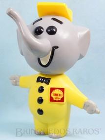 1. Brinquedos antigos - Sem identificação - Elefantinho da Shell com 24,00 cm de altura tipo Cofre Brinde da Gasolina Shell Década de 1960