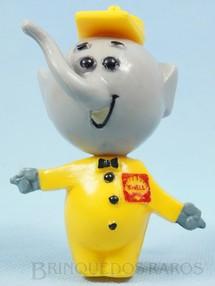 Brinquedos Antigos - Sem identificação - Elefantinho da Shell com 9,00 cm de altura Brinde da Gasolina Shell Década de 1960