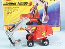 1. Brinquedos antigos - Matchbox - Escavadeira Hydraulic Excavator Super Kings Década de 1970