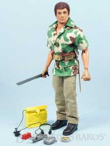 1. Brinquedos antigos - Estrela - Falcon Aventura Luta Selvagem Sobrevivendo no Inferno Verde completo com 12 Itens mais par de botas Edição 1977 Preço sem o Boneco