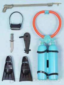 1. Brinquedos antigos - Estrela - Falcon Aventura Mergulho no Fundo do Mar completa com 6 itens Edição 1978