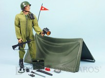 1. Brinquedos antigos - Estrela - Falcon Aventura Posto de Comando  Acampamento do Front 100% original completo com Barraca e mais 12 itens Edição 1978 Preço sem o Boneco