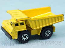 1. Brinquedos antigos - Matchbox - Faun Dump Truck Superfast amarelo