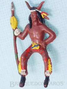 Brinquedos Antigos - Casablanca e Gulliver - Feiticeiro da Tribo montado a cavalo com lança
