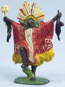 1. Brinquedos antigos - Casablanca e Gulliver - Feiticeiro Série África Misteriosa com adereços tribais e religiosos Década de 1970