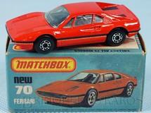 1. Brinquedos antigos - Matchbox - Ferrari 308 GTB Superfast