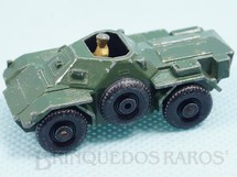1. Brinquedos antigos - Matchbox - Ferret Scout Car Black Plastic Regular Wheels
