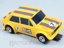 1. Brinquedos antigos - Estrela - Fiat 147 Amarelo com Decais originais Estrela Chassi diagonal Década de 1980
