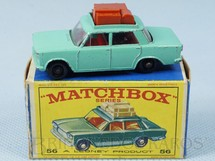 1. Brinquedos antigos - Matchbox - Fiat 1500 Black Plastic Regular Wheels