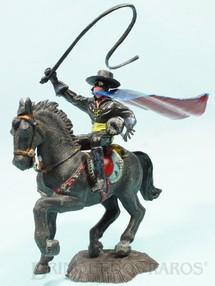 1. Brinquedos antigos - Casablanca e Gulliver - Figura completa do Zorro com cavalo preto Série Heróis Perfeito estado 100% original Década de 1970