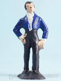 1. Brinquedos antigos - Casablanca e Gulliver - Figura de Don Diego com paletó azul Série O Zorro distribuído pela Trol Década de 1970