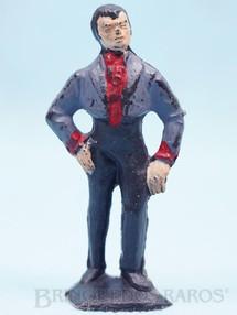 1. Brinquedos antigos - Casablanca e Gulliver - Figura de Don Diego com paletó cinza Série O Zorro distribuído pela Trol Década de 1970
