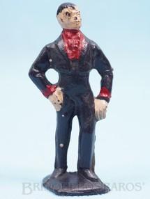 1. Brinquedos antigos - Casablanca e Gulliver - Figura de Don Diego com paletó preto Série O Zorro distribuído pela Trol Década de 1970