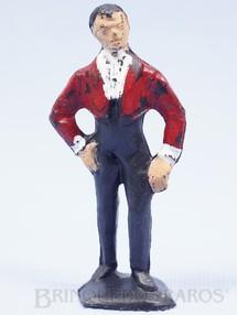 1. Brinquedos antigos - Casablanca e Gulliver - Figura de Don Diego com paletó vermelho Série O Zorro distribuído pela Trol Década de 1970