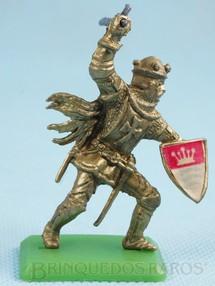 1. Brinquedos antigos - Casablanca e Gulliver - Figura do Rei Arthur com Escudo e Machado Cópia Britains Série Rei Arthur Década de 1970