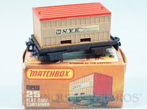 Brinquedos Antigos - Matchbox - Flat Car whit N.Y.K. Container Superfast