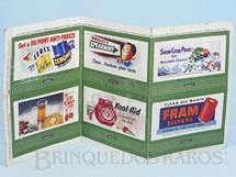 Brinquedos Antigos - Lionel - Folha com 6 Cartazes 310 Bilboard Set of six Plates Ano 1950 a 1968