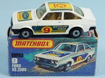 Brinquedos Antigos - Matchbox - Ford Escort RS 2000 Superfast
