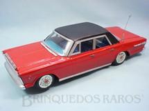 1. Brinquedos antigos - Estrela - Ford Galaxie 500 vermelho com teto preto 34,00 cm de comprimento Ano 1968
