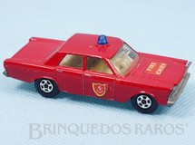 Brinquedos Antigos - Matchbox - Ford Galaxie Fire Chief Superfast Transitional Weels