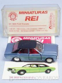1. Brinquedos antigos - Schuco-Rei - Ford Granada azul metálico Schuco Modell Brasilianische Schuco Rei completo com Catálogo e Cromo