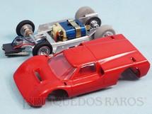 1. Brinquedos antigos - Estrela - Ford J Vermelho Chassi de alumínio basculante 100% original perfeito estado Ano 1968
