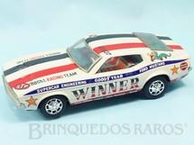 1. Brinquedos antigos - Taiyo - Ford Mustang Mach I Nascar Sistema Não Cai da Mesa 26,00 cm de comprimento Década de 1970
