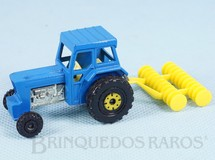 1. Brinquedos antigos - Matchbox - Ford Tractor and Harrow Superfast azul yellow rear hubs