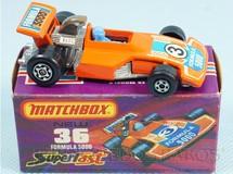 Brinquedos Antigos - Matchbox - Formula 5000 Superfast laranja