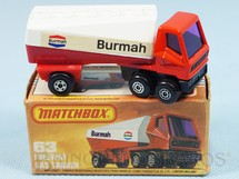 Brinquedos Antigos - Matchbox - Freeway Gas Tanker Superfast Burmah