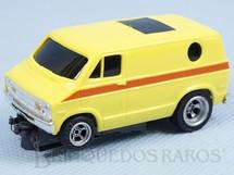 1. Brinquedos antigos - Aurora - Furgão Dodge Van Amarela Série AFX Model Motoring Década de 1970
