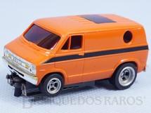 1. Brinquedos antigos - Aurora - Furgão Dodge Van Laranja Série AFX Model Motoring Década de 1970