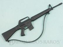 Brinquedos Antigos - Estrela - Fusil AR15 preto Aventura Posto de Comando Ano 1978