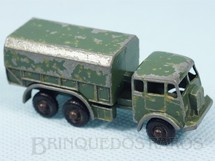 1. Brinquedos antigos - Matchbox - General Service Lorry Black Plastic Regular Wheels