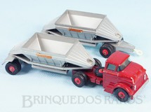 Brinquedos Antigos - Matchbox - GMC Tractor and Freuhof Hopper Train King Size Bruehauf label