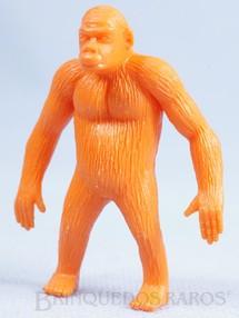 1. Brinquedos antigos - Casablanca e Gulliver - Gorila de plástico laranja Série Zoológico década de 1970