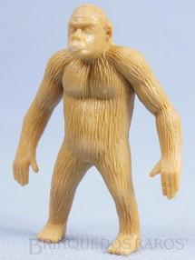 1. Brinquedos antigos - Casablanca e Gulliver - Gorila de plástico marrom claro Série Zoológico década de 1970