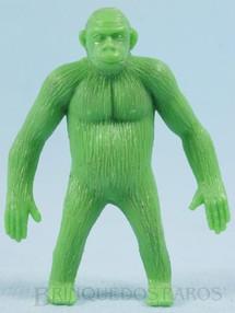 1. Brinquedos antigos - Casablanca e Gulliver - Gorila de plástico verde Série Zoológico década de 1970